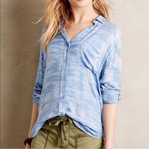 Anthropologie Cloth & Stone Cloud Button Down Top